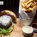 Burger Au Poivre - Madagascar & Malaysian peppercorn crust, Bordelaise aioli, potato bun, served with butcher\'s fries