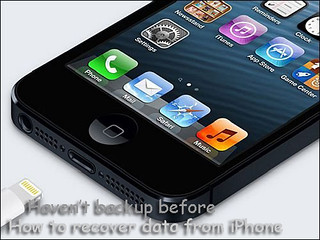 recover iPhone data without backup