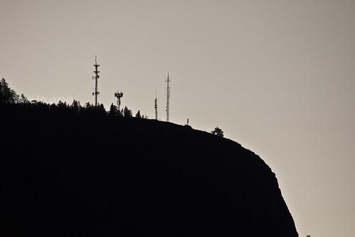 canada black mountains radio sunrise grey dawn bc okanagan towers gray silhouettes hills kelowna transmitters