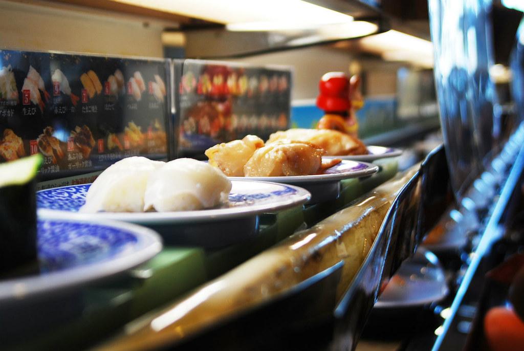 Кайтэн-дзуси. Японские рестораны.