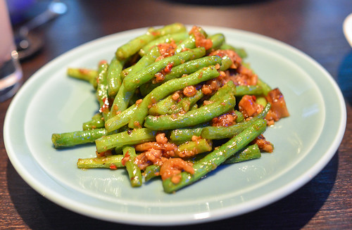 French beans with minced pork and dried shrimp