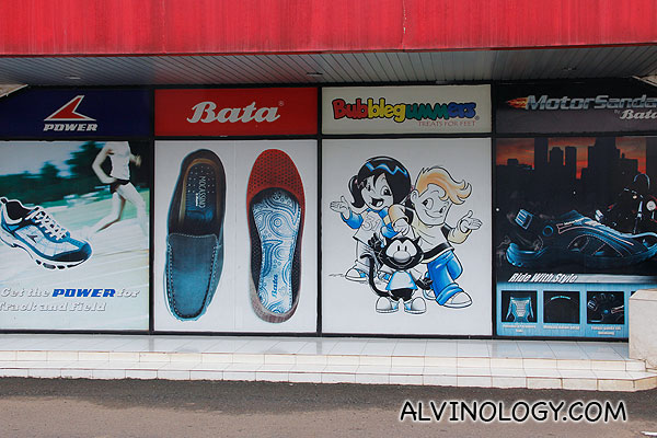 Are you familiar with these brands sold in the Bata factory store?