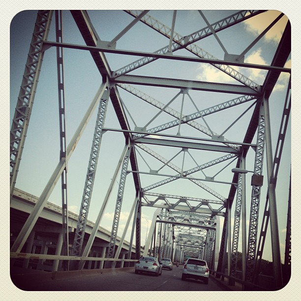 Never drove in this type of #bridge before. Seen 'em on tv plenty of times. #atx #austin #texasbaby