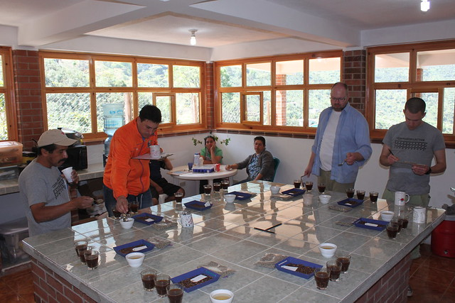 Cupping at FVH, from left Eliseo, Edwin, Martin and Rasmus