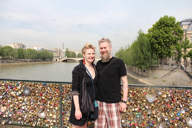 Love on Love Lock Bridge