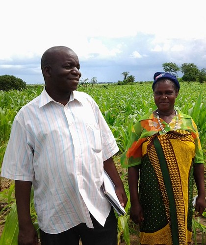 Photo 1 Pastor Henriques and Justina Domingos visiting the Matsinho maize field
