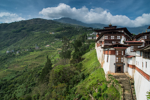 Trongsa Dzong and the greenery