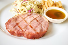 Ham Steak with Honey Glazed Sauce