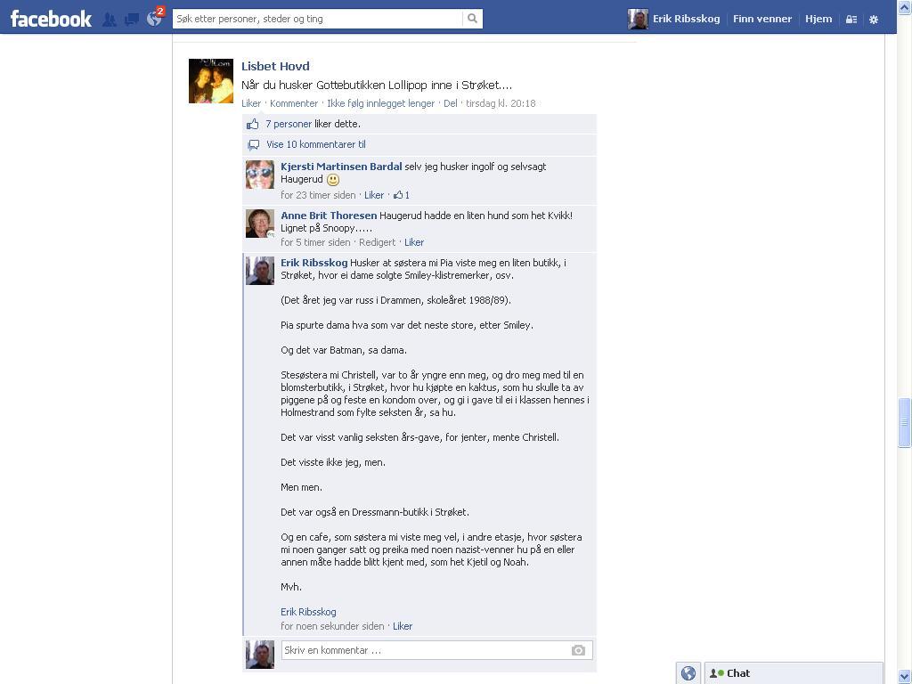 strøket facebook