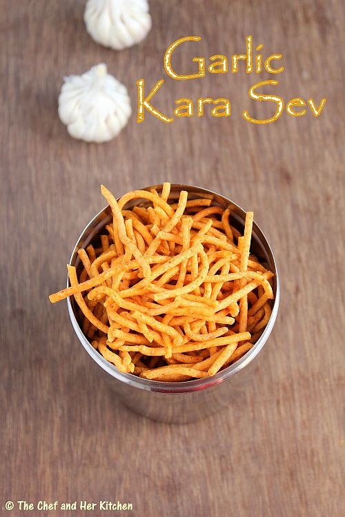 garlic kara sev