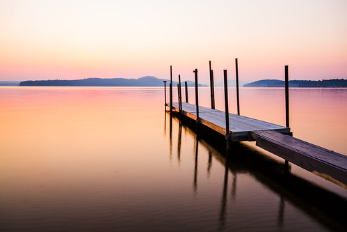 longexposure lake water sunrise island dock day newengland newhampshire clear gilford lakewinnipesaukee cliffordphotographynhcom