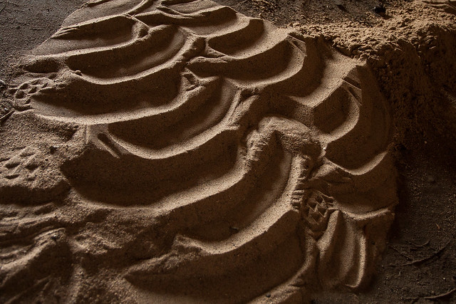 Sandscape in Maintenance Garage