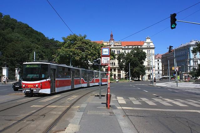 Svandovo Divadlo tram stop, Smichov, Praha