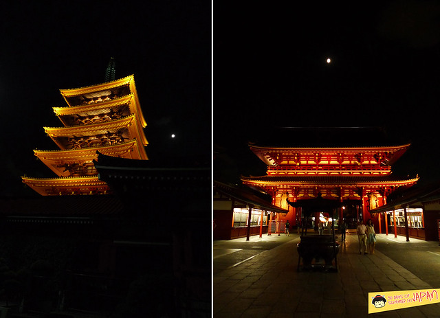 Asakusa - Gojunoto - 5 story Pagoda at night