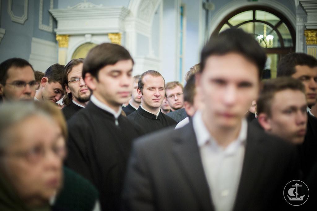 8 октября 2013, Всенощное бдение накануне престольного праздника академического храма СПбПДА