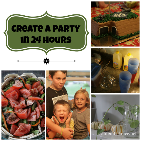 Create a Party in 24 Hours