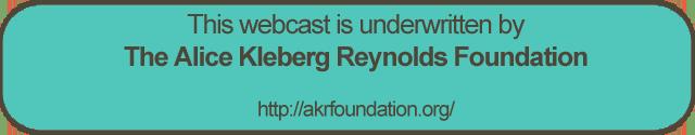 Sponsored by the Alice Kleberg Reynolds Foundation