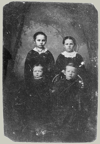 Tintype: Four children