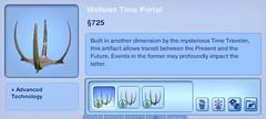 Wellsian Time Portal