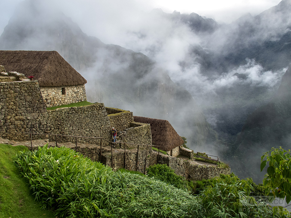 Machu Picchu in all its misty early morning glory.