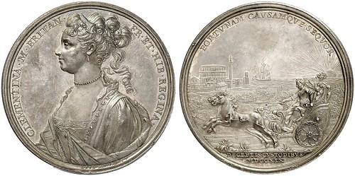 Silver Medal 1719, by O. Hamerani