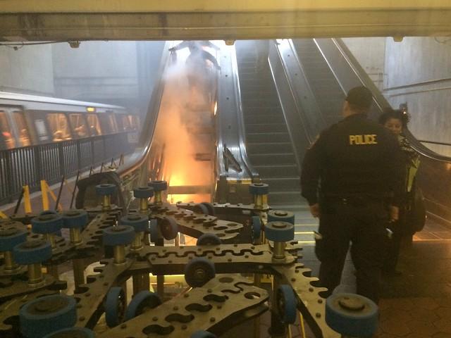 escalator fire at anacostia flickr photo sharing