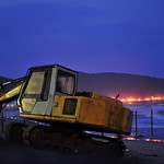 bulldozer at sunset 3