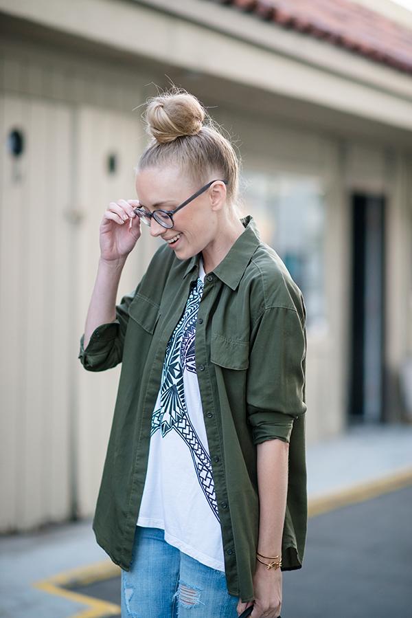 eatsleepwear, outfit, portrait, glasses, warby-parker, topknot