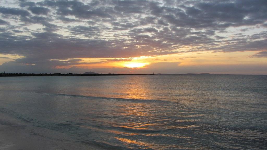 Cuba, Beach. Sunset.