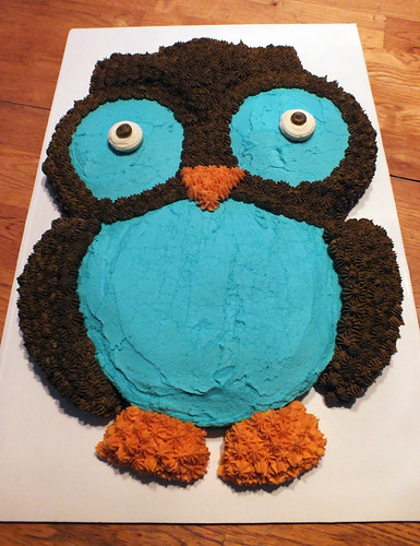 Owl Cake for Dad's 60th Birthday
