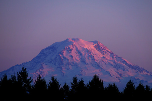 sunset night washington mt baker clear tacoma