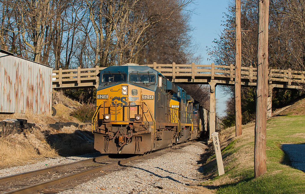 CSX 5214 EVWR HSH1 Mt Vernon IN 30 Nov 2013