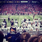 The Tulane offense patiently waits for their next series #Tulane #rollwave #bowlwave #neworleansbowl