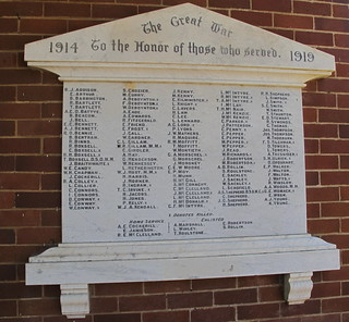 Great War Honor Roll 1914-19 Berry