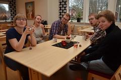 2014-01-04 - Fikapaus - Malin, Johanna, Gustav, Ludvig och Kalle