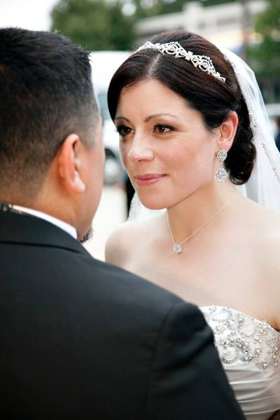 Liliana- crystal bridal headband- embroidered cathedral veil 2- Bridal Styles Boutique