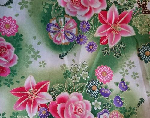 green japanese print
