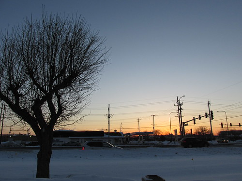 A winter morning sunrise.  Elk Grove Village Illinois. February 2014. by Eddie from Chicago