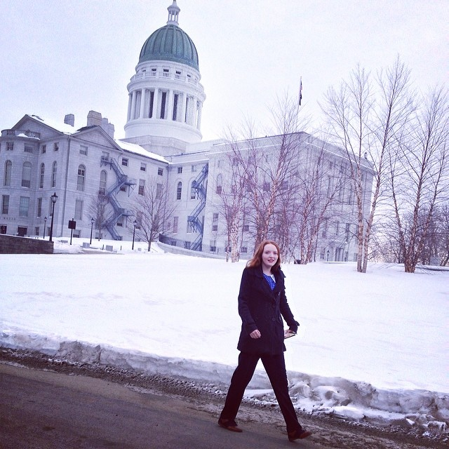Olivia, as part of Equality Maine's New Leaders Project, is off to shadow a legislator, today. #unschooling #activism #maine #LGBTQIA+ #teen #eqme #newleaders