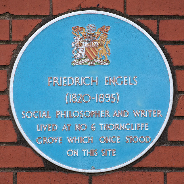 Photo of Friedrich Engels blue plaque