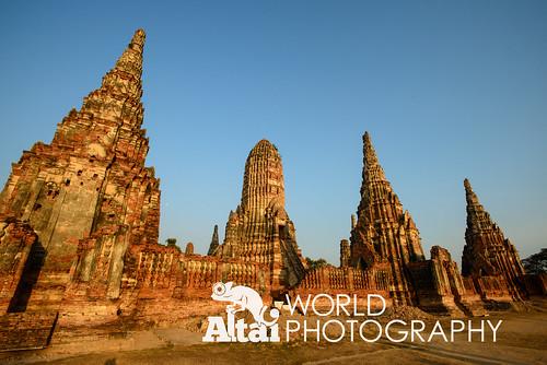 world sunset heritage thailand site ruins asia south unesco east southeast wat th ayutthaya chaiwatthanaram phranakhonsuayutthaya