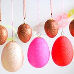 Neon Blush glittered eggs