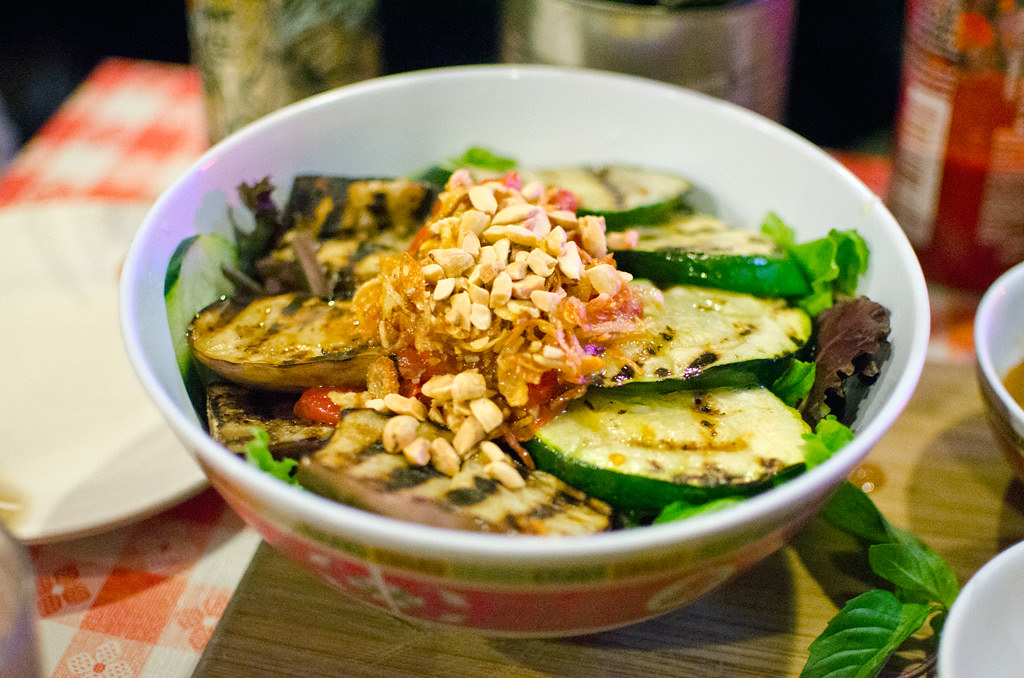 grilled eggplant & zucchini