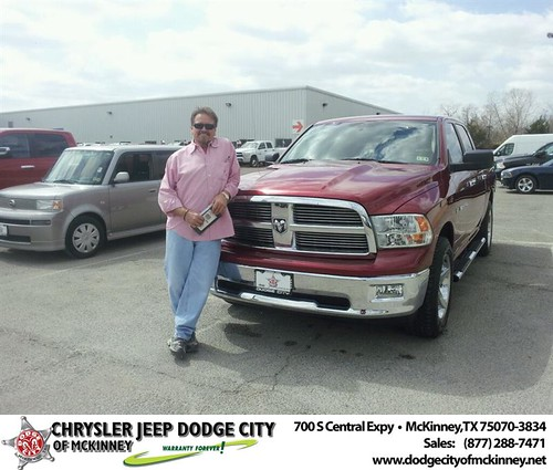 Congratulations to Marty Webb on your #Ram #1500 purchase from Brent Villarreal at Dodge City of McKinney! #NewCar by Dodge City McKinney Texas