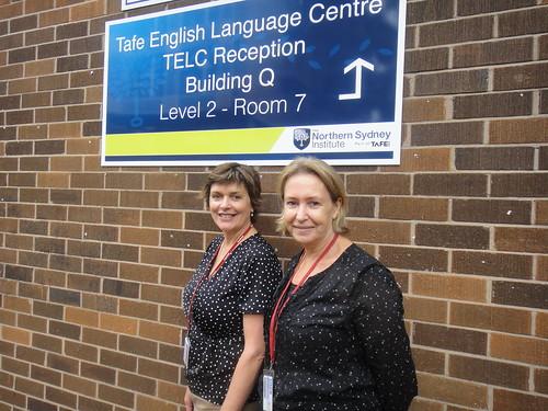 TELC Director of Studies Simone Harris and Education Office Janne Culbert