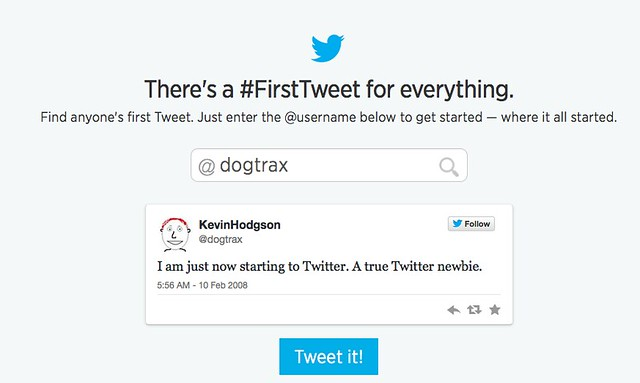 first tweet feb2008