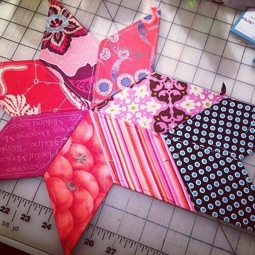 #starquilt progress #epp #patchwork #sew #sewing