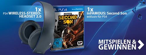 PS4 Headset / inFAMOUS Gewinnspiel CTA