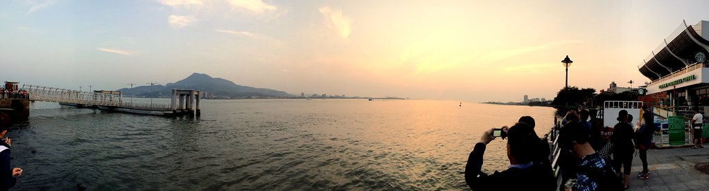 Sunset Panorama in Tamsui