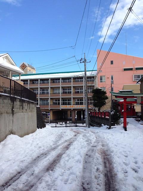 大雪のバスケ